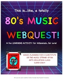 80s Music Webquest - expanded edition