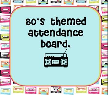 80's Themed Attendance Board