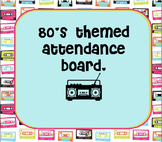 80's Themed Attendance Board