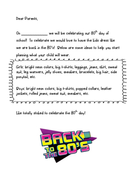 80th Day of School note
