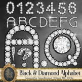 81 Black and Diamond Alphabet Number Symbol Clip Art Not Font