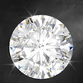 81 Diamond Alphabet, Number, Symbol Clip Arts Not a Font