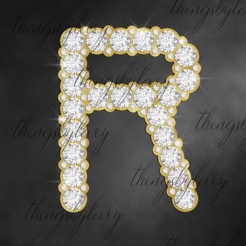 81 Gold and Diamond Alphabet Number Symbol Clip Art Not Font
