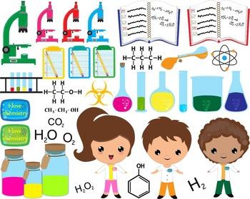 81 PNG Files- Chemistry Clip Art- Digital Clip Art Graphics (125)