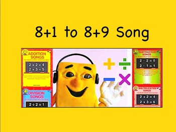 "8+1 to 8+9 mp4 Song Video from ""Addition Songs"" by Kathy T"