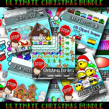 CHRISTMAS CLIPART BUNDLE {The Teacher Stop}