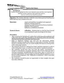 8102-15 Reflective Essay on Personal Financial Habits