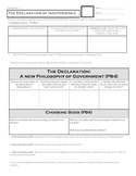 8.1.2 Declaration of Independence Worksheet Graphic Organizer Holt