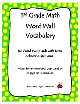 82 3rd Grade Word Wall Vocabulary