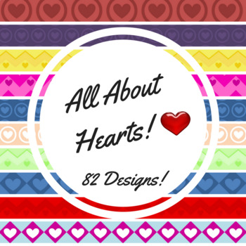 82 HEART DIGITAL PAPERS PNG FILES