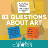 82 Questions to Ask About Art - Printable Index Cards and Resource