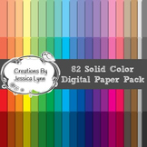82 Solid Color 12 x 12 Digital Paper Pack