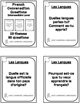 83 Intermediate French conversation starter cards