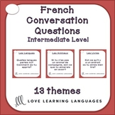 83 Low-intermediate French conversation starter and speaking prompt cards