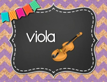 Musical Instrument Posters {84 8.5×11 Chalkboard, Chevron, Cork Signs}