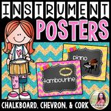 Musical Instrument Posters {84 8.5×11 Chalkboard, Chevron,