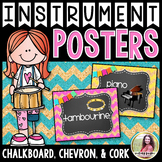 Musical Instrument Posters {84 8.5×11 Chalkboard, Chevron,
