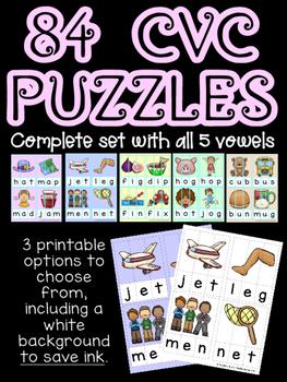 84 CVC Puzzles