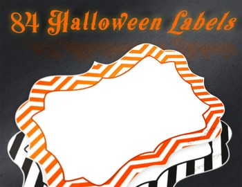 84 Free Halloween Colored Labels