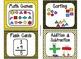 84 Math Manipulative Labels {Bee Theme}