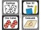 84 Math Manipulative Labels {Black & White Theme}