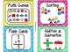 84 Math Manipulative Labels {Bright Colors Theme}