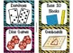 84 Math Manipulative Labels {Bright Jungle Animal Theme}