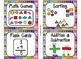 84 Math Manipulative Labels {Flip Flop Theme}
