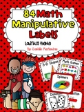84 Math Manipulative Labels {Ladybug Theme}