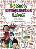 84 Math Manipulative Labels {Owl Theme}