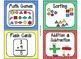 84 Math Manipulative Labels {Primary Polka Dots}