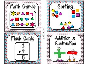 84 Math Manipulative Labels {Seuss Inspired}