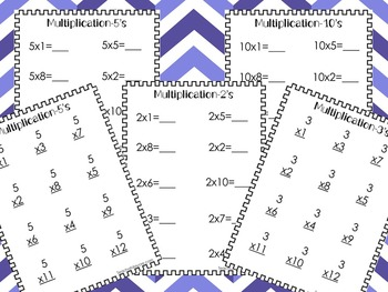 84 Multiplication Worksheets. Numbers 1-12. 2nd-5th Grade.