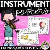 Musical Instrument Posters {109 Ink-Saver Posters for Elem