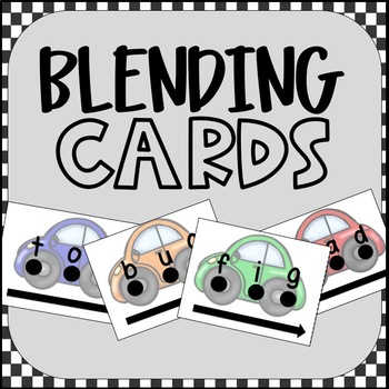 84 Race Car Blending Cards