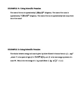 8.4 Scientific Notation