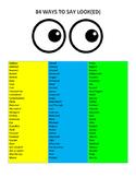 84 Ways to Say Look(ed)