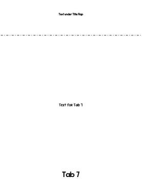 "8.5"" 7-tab Foldable Template"