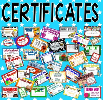 85 CERTIFICATES - WELL DONE EYFS KS 1-2 ENGLISH MATHS SCIE