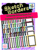 85 Colorful Pencil Sketch Borders for Personal & Commercia
