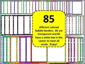 170 Colored Bubble Borders!