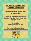 85 Digraphs, Blends, and Alphabet Flash Cards With Bonus Charts Included