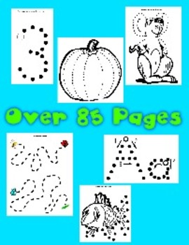 85 + Pages of Dot to Dot Printables - Huge Variety of Fine Motor Worksheets