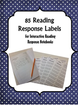 85 Reading Response Labels {Interactive Notebook}