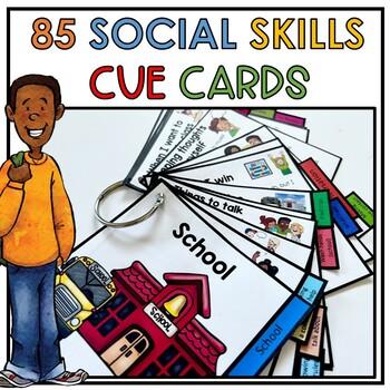 85 portable social skill cue cards. Conversation, self reg