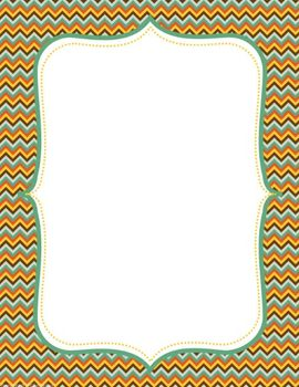8.5 x 11 Bordered Background Cover Pages