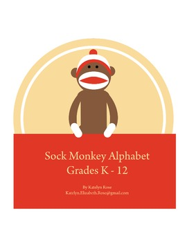 8.5 x 11 Sock Monkey Alphabet PDF