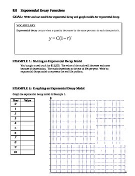 8.6 Exponential Decay Functions
