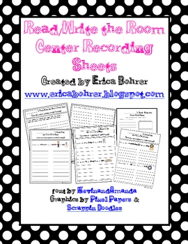86 Read/Write the Room Recording Sheets