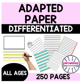 87 pgs of ADAPTIVE PAPER for color & black/white printing k12345 & directions